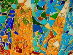 ogrodzenia w ogrodzie mozaika